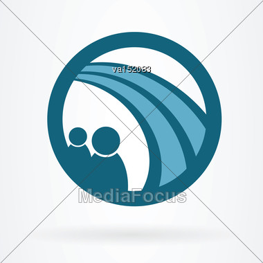 People And Road Symbol Icon Vector Illustration Stock Photo