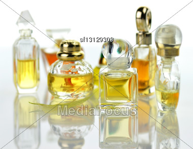Perfume Assortment Stock Photo