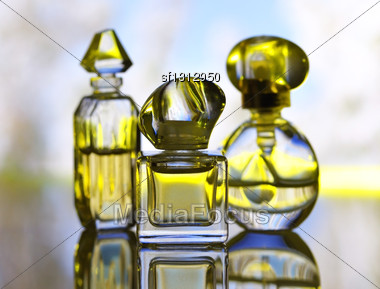 Perfume Assortment Stock Photo