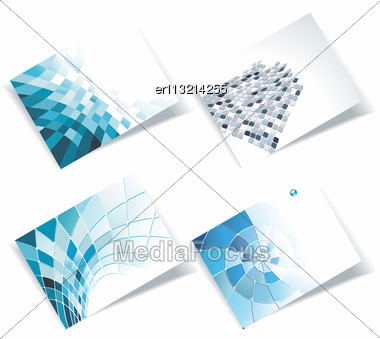 Personal Business Cards Set Stock Photo
