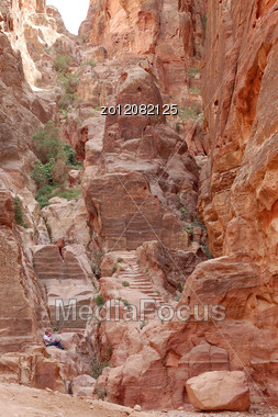 Petra.Structure,relief Of The Jordanian Mountains,background Stock Photo