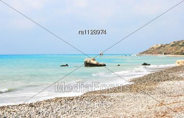 Petra Tou Romiou, Aphrodite's Legendary Birthplace In Paphos, Cyprus Stock Photo