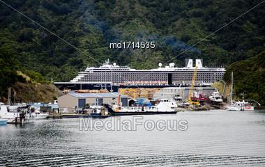 Picton New Zealand Downtown Tourism Ferry Destination Stock Photo