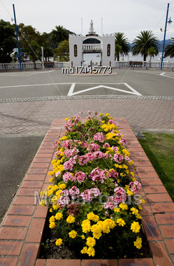 Picton New Zealand Downtown Tourism Ferry Destination Stock Photo