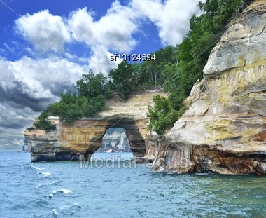 Pictured Rock National Lake Shore Michigan State Stock Photo