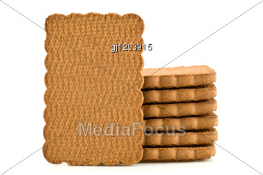 Pile Of Chocolate Biscuits Stock Photo