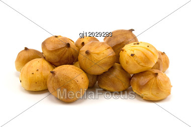 Pile Of Sponge Biscuits Stock Photo