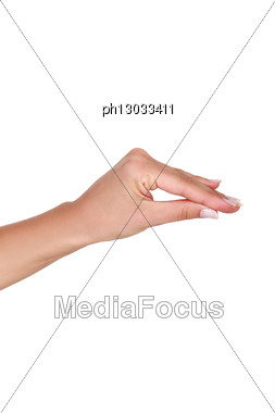 Pinch Gesture Stock Photo