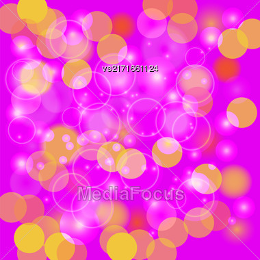 Pink Blurred Light Background. Abstract Light Pattern Stock Photo