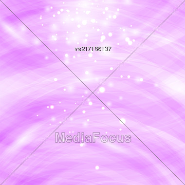 Pink Burst Blurred Background. Sparkling Texture. Star Flash. Glitter Particles Pattern. Starry Explosion Stock Photo