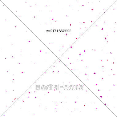 Pink Confetti Isolated On White Background. Confetti Background Stock Photo