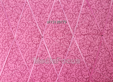 Pink Fabric Texture For Background Stock Photo