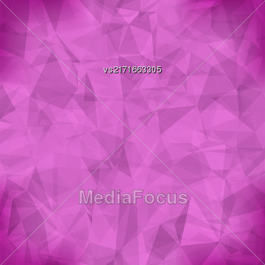 Pink Light Polygonal Mosaic Background. Business Design Templates. Triangular Geometric Pattern Stock Photo