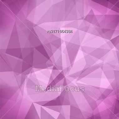 Pink Light Polygonal Mosaic Background. Business Design Templates. Triangular Geometric Pattern Stock Photo