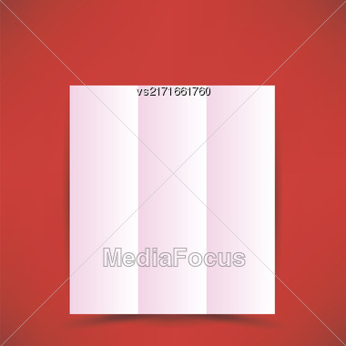 Pink Paper Brochure Isolated On Soft Red Background Stock Photo