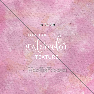 Pink Pastel Watercolor On Tissue Paper Pattern. Vector Stock Photo