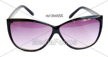 Pink Sunglasses Isolated On White Background. Stock Photo