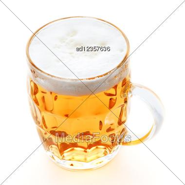 Pint Mug Of Beer Stock Photo