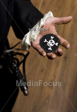 Pirate Gets A Black Mark As Warning Stock Photo