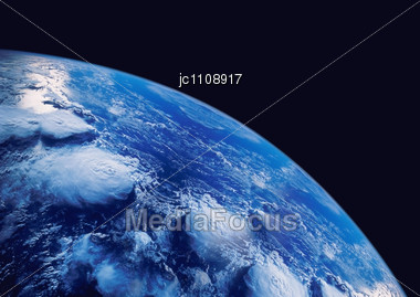 Planet Earth Seen Of Space Stock Photo