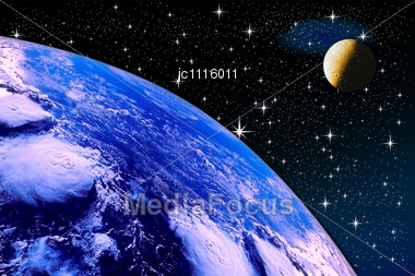 starry sky with planets - photo #31
