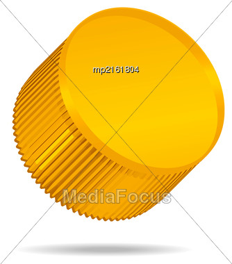 Plastic Bottle Cap Isolated On White Background. Vector Illustration Stock Photo