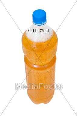 Plastic Bottle Of Beer Stock Photo