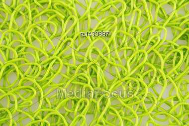 Plastic Placemat Texture For Background, Close-up Image Stock Photo