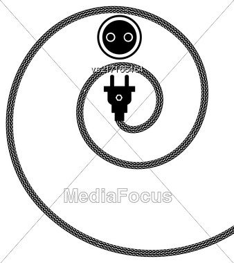 Plug And Socket Concept On White Background Stock Photo