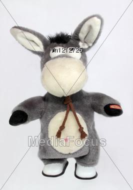 Plush children's toy - burro Stock Photo