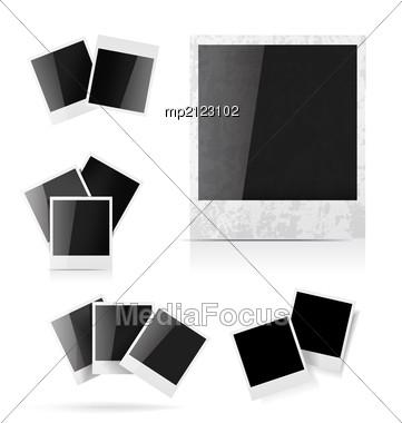 Polaroid Photo Frame Set Stock Photo