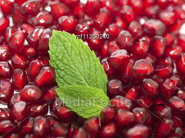 Pomegranates Seeds As Background Stock Photo