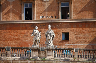 Pope Residence Building. Vatican. Rome. Europe. Stock Photo