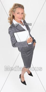 Portrait Of A Businesswoman Stock Photo