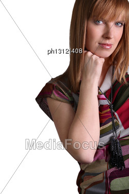 Portrait Of A Fashionable Woman Stock Photo