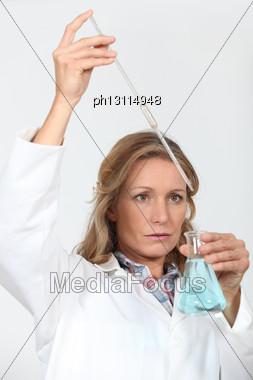 Portrait Of A Lab Assistant Stock Photo