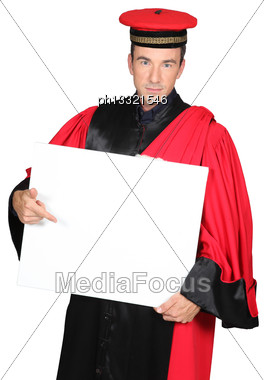 Portrait Of A Man With Costume Stock Photo