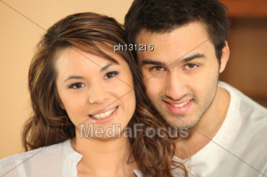 Portrait Of A Multiracial Couple Stock Photo