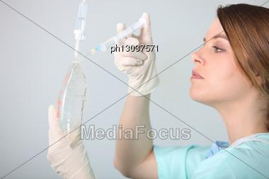 Portrait Of A Nurse Stock Photo
