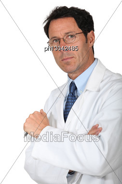 Portrait Of A Physician Stock Photo