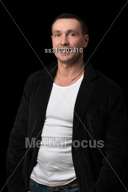Portrait Of A Smiling Man. Stock Photo