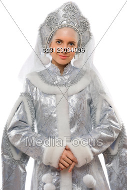 Portrait Of A Snow Maiden. Stock Photo