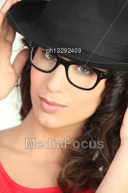 Portrait Of A Trendsetter Stock Photo