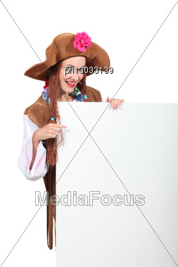 Portrait Of A Woman In Costume Stock Photo