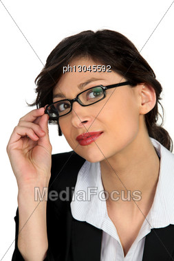 Portrait Of A Young Skillful Woman Stock Photo
