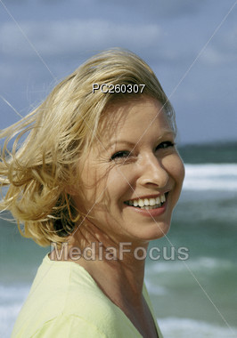 Portrait Of An Adult Woman Stock Photo