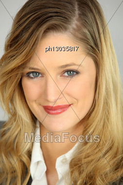 Portrait Of An Attractive Blonde Businesswoman Stock Photo