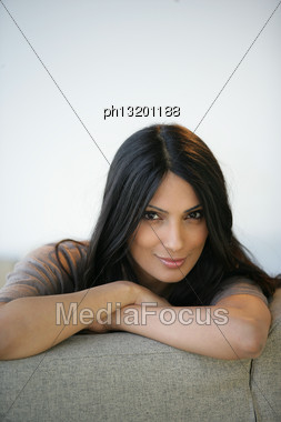 Portrait Of An Attractive Woman Stock Photo