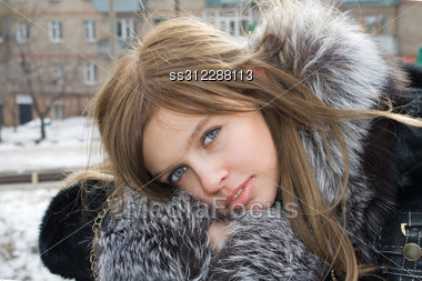 Portrait Of The Beautiful Girl Outdoor 2 Stock Photo