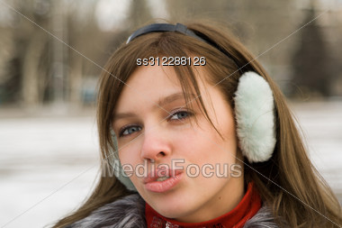 Portrait Of The Beautiful Girl Outdoor 3 Stock Photo